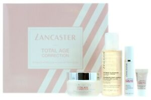 LANCASTER Total Age Correction 4 Pc Gift Set ~Day & Night Cream /Serum /Cleanser