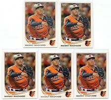 (5) MANNY MACHADO 2013 Topps #270 Rookie RC Card Lot San Diego Padres HOT!