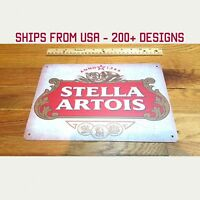 Vintage Stella Artois Metal Sign Retro Stella Artois Beer Tin Sign Art Gift Sign