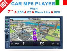 "7"" 2DIN AUTORADIO GPS NAVIGAZIONE BLUETOOTH LETTORE MP5 PLAYER STEREO FM/SD/AUX"