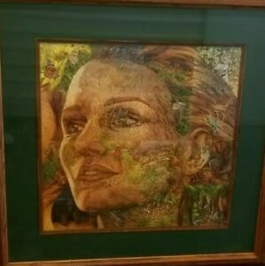 "Bev Doolittle, ""The Earth Is My Mother"" signed Litho, Camouflage framed /12,500."