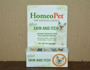 HOMEO PET FELINE SKIN AND ITCHING, SCRATCHING-CHEWING-HAIR LOSS ( 450 DROPS ) N