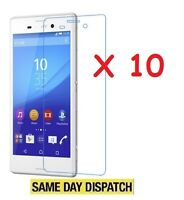 10 X Ultra Clear Screen Protectors Cover Film for Sony Xperia M4 Aqua & Cloth