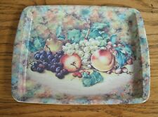 "Vintage Daher England Tin Tray w/ Fruits ~ 6"" x 7 3/4"" ~"