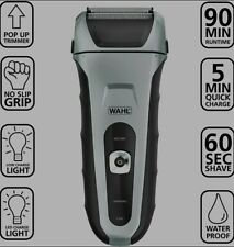 Wahl Waterproof Rechargeable Speed Shave Shaver with Pop Up Trimmer #7061-500