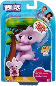 WowWee FINGERLINGS Baby Elephant NINA Interactive Toy (Pink)