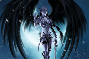 Huge Fantasy Angel Warrior Wall Stickers Wallpaper Mural 651