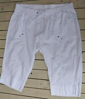 AUTOGRAPH WHITE Crop Pants Size 24 NEW rrp$59.99 STRETCH Comfy Elastic Waist.