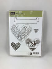 Stampin' Up TAKE IT TO HEART New Unmounted Clear Mount Stamp Set Retired