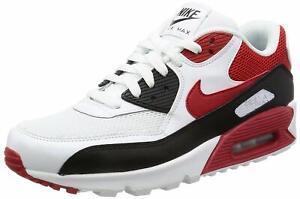 NEU Nike Air Max 90 Essential 537384-129 Weiß/Rot/Schwarz