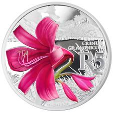 Südafrika - 10 Rand 2018 - Hakenlilie - Waterberg Reservat - 1 Oz Silber PP