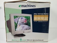 """eMachines 17"""" CRT Computer Monitor eView 17f2 Flat Screen RARE NEW"""