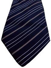 ETRO Mens Tie Black - White & Brown Stripes