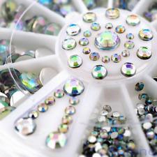 Rhinestone Crystal 3D Nail Art Gem Tips AB Glitter Manicure Decoration Wheel DIY