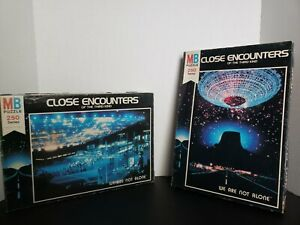 Vintage MB Puzzle Lot Of 2 Close Encounters Of The Third Kind We Are Not Alone