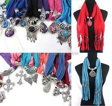 US SELLER-6pcs wholesale jewelry scarf necklace bulk lot wrap Scarves bulk