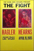 LeRoy Neiman Poster The Fight boxing Hagler vs Hearns 1985 Las Vegas Make Offer