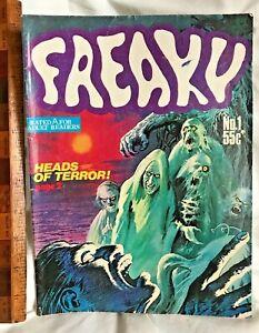 FREAKY #1 RARE 1980S AUSTRALIAN SCI-FI HORROR COMIC MAGAZINE GREDOWN PRECODE VGC