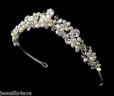 Nuptiale mariage cristal Swarovski Perle Tiara