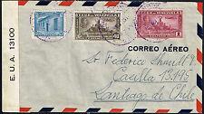 663 Venezuela To Chile Censored Air Mail Cover 1942 Caracas - Santiago