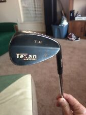 "Texan Classics T-11 Gun Metal Forged Feel 56* Wedge T-II RH Stiff Steel 36"" LQQK"