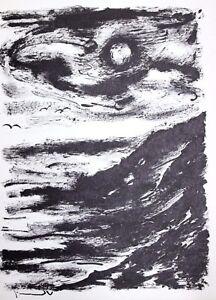 Maurice de Vlaminck Original Lithograph La Tete Tournee Illustration XI 1956