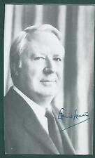 """Sir Edward Heath signed 4""""x6-1/2"""" picture British Prime Minister"""