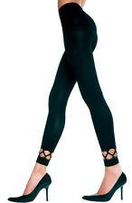 Noir opaque jambe inférieure bordure collants sans pieds sexy designer lingerie P35238