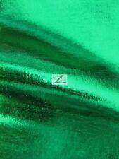 """METALLIC FOIL SPANDEX FABRIC - Green - 2 WAY STRETCH LYCR 58""""/60"""" WIDTH SOLD BTY"""