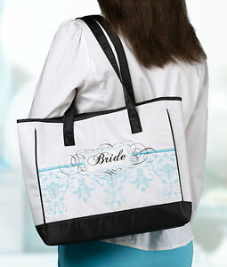 Bride Aqua Tote Wedding Planning Bride Gift Bridal Gifts