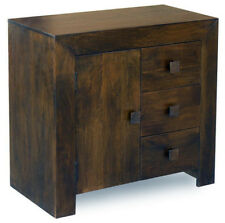 DARK DAKOTA MANGO WOOD SIDEBOARD CABINET UNIT/ REAL SOLID WOOD FURNITURE