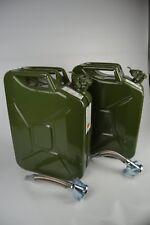 2x Bezin-/Dieselkanister 20L aus Metall inkl. 2x flexiblen Metalausgiesser
