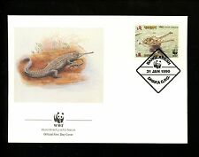 Postal History Bangladesh Sc#340-343 FDC WWF World Wildlife Fund 1/31/1990 Dhaka