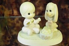 """Precious Moments-#531944 """"Sharing Our Christmas Together""""-Boy w/Puppy- LOT OF 12"""