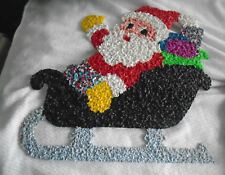 MELTED PLASTIC POPCORN Christmas decoration Santa in Sleigh
