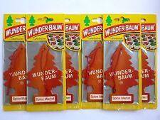 (1,50€/Einheit) 6x WUNDER-BAUM® Spice Market Tree Duftbaum Lufterfrischer Duft