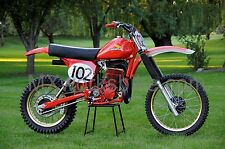 Jim Pomeroy's 1977 Honda RC500M works bike Photo CD vintage motocross ahrma HRC