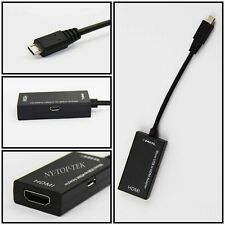 NEW 1080P Mini Micro USB MHL to HDMI Adapter Cable 150mm for HTC LG Sony