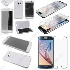 Housse Portefeuille Silicone Transparent Samsung Galaxy S6 G920F Verre