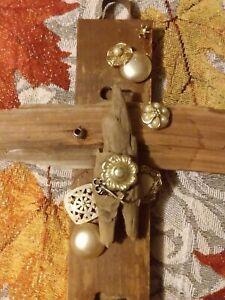 """Folk Art Cross, """"For the love of Peter"""", Handmade Kentucky Folk Art"""