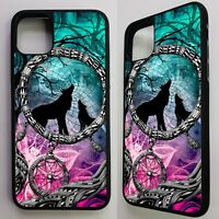 Wolves howling dream catcher wolf pattern art graphic case cover for iphone 11