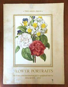 Vintage 'Flower Portrait' Folio by The Ariel Press - Eva Mannering C1961 HTF