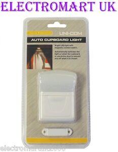 AUTO AUTOMATIC CUPBOARD WARDROBE SENSOR LED LIGHT BATTERY OPERATED