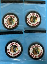 CHICAGO BLACK HAWKS VINTAGE JERSEY PATCH LOT X 4 - NHL HOCKEY BLACKHAWKS