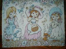 Vintage SARAH KAY / HOLLY HOBBIE Large Fabric Panel (60cm x 48cm)