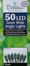 Bethlehem Lights 50 LED 5mm Wide Angle Green String Lights St. Patricks Day