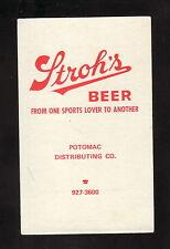 Maryland Terrapins--1976-77 Basketball Pocket Schedule--Stroh's