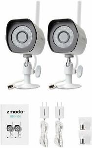 Zmodo 1080P 2 Pack Smart Security Camera WiFi Outdoor Security Camera Renewed