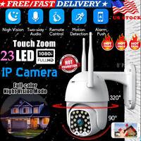 USA 1080P HD IP CCTV Camera Waterproof Outdoor WiFi PTZ Security Wireless IR Cam