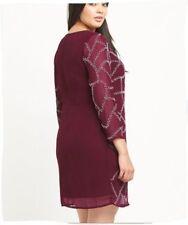 Chiffon Long Sleeve Plus Size Party Dresses for Women